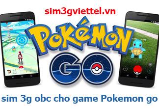 Sim 3G chơi game Pokemon Go dùng 1 năm trọn gói giá rẻ