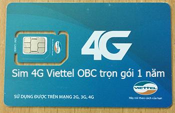 Sim 4G Viettel không giới hạn dung lượng