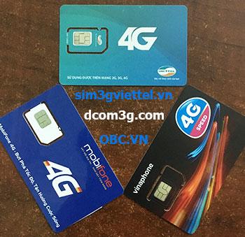 Sim Dcom 4G Viettel, Vinaphone, Mobifone giá rẻ