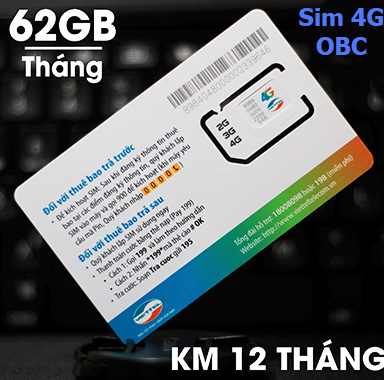 Sim Dcom 4G Viettel 60Gb/tháng giá rẻ