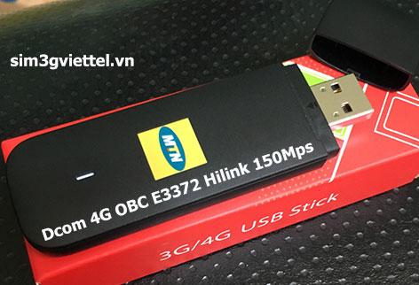 USB Dcom 4G Huawei E3372h-153 chạy công nghệ Hilink tốc độ 150Mbps